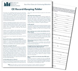 CE Record-Keeping Folder